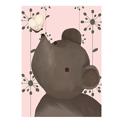 Oopsy Daisy Nosey Posey Canvas Wall Art, Pink, 24 x 18''