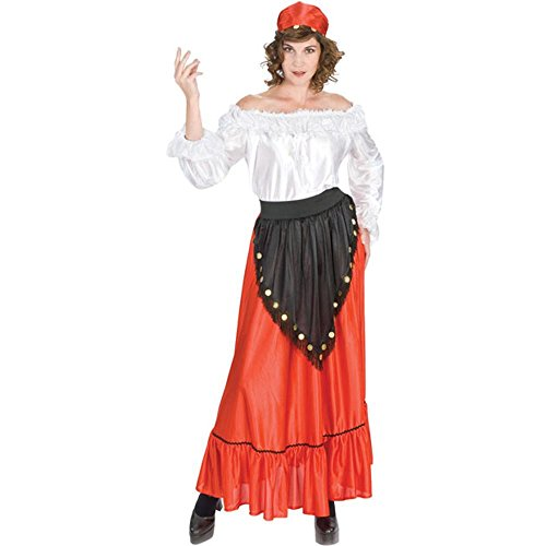 [Adult Gypsy Halloween Costume (Size: 16)] (Gypsy Costume Head Scarf)