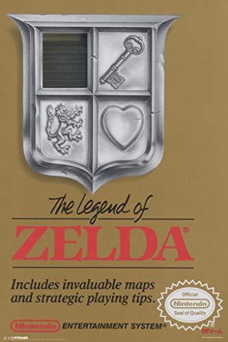 Pyramid America Laminated The Legend of Zelda Super Ninetendo NES Game Boy DS 3DS Wii Vintage Box Art Print Sign Poster 12x18 inch (Legend Of Zelda Ocarina Of Time 3ds Price)