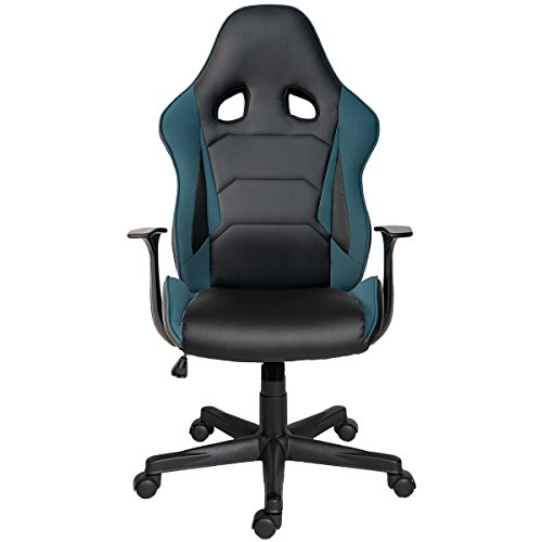 41OQZDq8BrL - ModernLuxe-Racing-Style-Gaming-Chair-Soft-PU-Leather-and-Mesh-Fabric-Task-Chair-Petrol-Blue