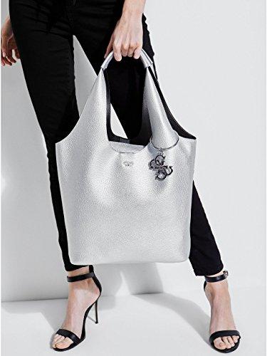 Silver W Bag Guess 45x31x16 Silver L cm Women's Sil H x Shoulder 5 Flora nSnIqp