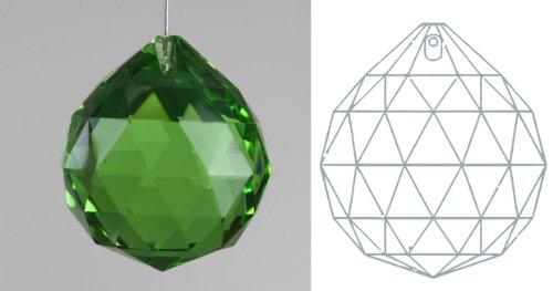 "Davidson Lighting 40mm 24% lead Crystal Ball Prism - 1.57"" Dark Green Suncatcher"