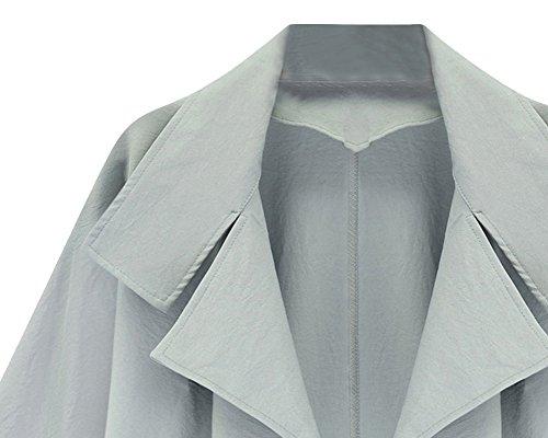 Azzurro Business Giacca Tailleur Donna Cappotto Tailleur Risvolto Chiaro Ufficio Carriera Elegante RHaqOCw