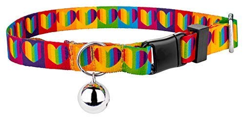 Country Brook Petz | Rainbow Hearts Cat - Rainbow Collar Leather