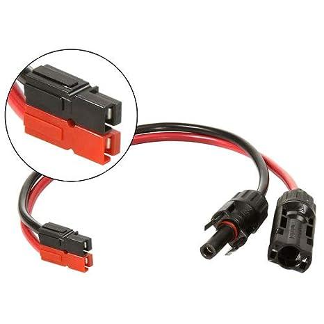 valley enterprises solar power mc4 to anderson powerpole connector adapter  cable, standard powerpole configuration (