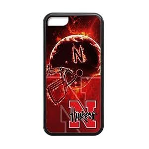 LJF phone case Todaoot Nebraska Cornhuskers Custom Case Shell Covers for iPhone 5C TPU (Laser Technology)