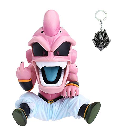 (GideonH Dragon Ball Z Majin Boo Kid Buu Action Figure Statue Collectible Model Toy Free Keychain)