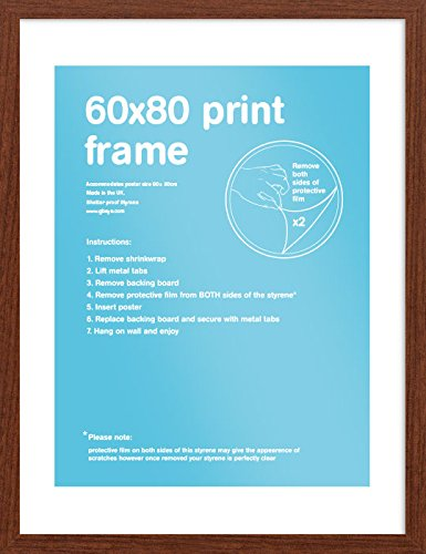 GB eye 60 x 80 cm MDF Wrapped Frame, Walnut by GB Eye Limited