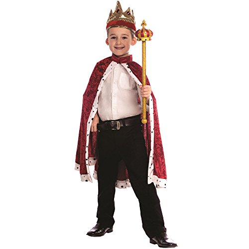 Dress Up America Red King Robe - Size Kids, One Size fits Most