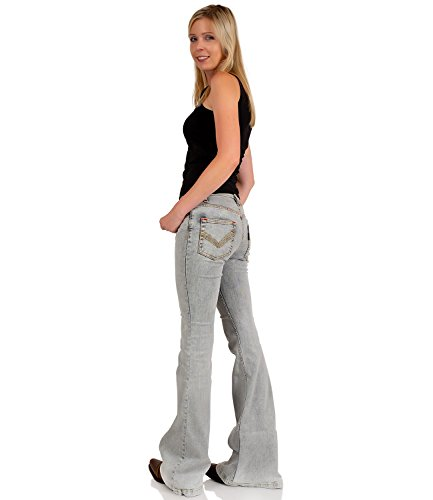 Donna Jeans Grigio Basic Campana Comycom Chiaro npz0awBxx