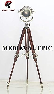 MEDIEVAL EPIC - Lámpara de pie con trípode de diseño industrial ...