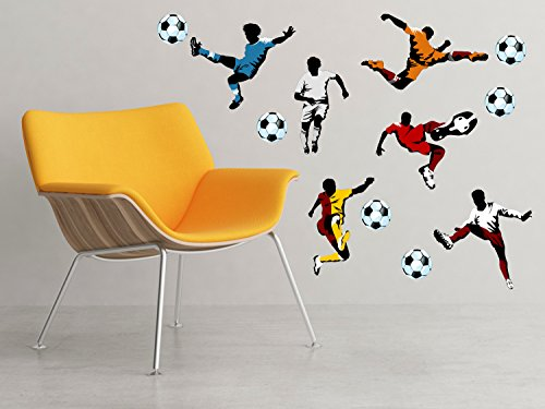 Soccer Fabric Wall Decals Respositionable