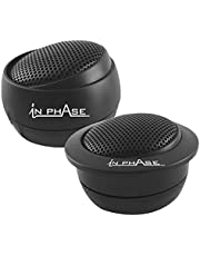 In Phase Auto Audio SXT1 Speaker - 1/2 Inch 200W PEI Silk Dome Tweeter (2 x Luidsprekers)