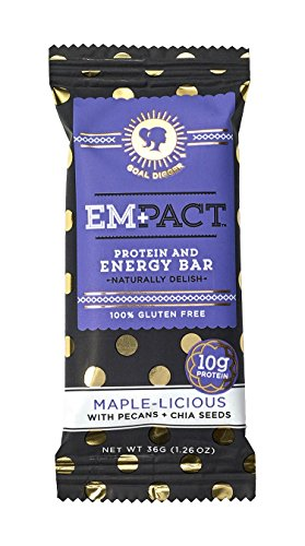 Bio Protein Bar Cookies (Empact Bars - Maple-Licious - 10 Pack - Amazons #1 Ranked All Natural, NON-GMO, Gluten Free Protein and Energy Bar for Women)