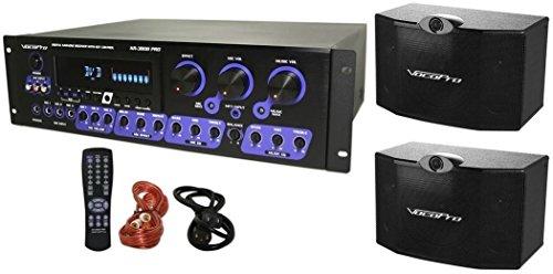 Vocopro KR-3808 Karaoke Mixer/Amp + 2x 10