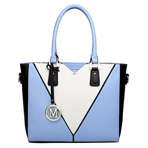 A4 Handbag Shoulder Miss 1641 Tote Women Bags Blue Large Great Size Handbags Lulu Or44IqX