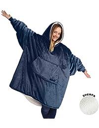Original | Oversized Microfiber & Sherpa Wearable Blanket, Seen On Shark Tank, One Size Fits All