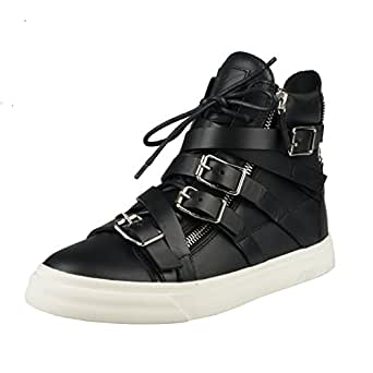 Giuseppe Zanotti Homme Men's Leather Hi Top Fashion Sneakers Shoes US 7.5 IT 40.5