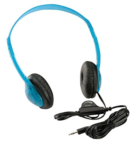 Califone 3060AVBL Multimedia Wired Stereo Headphones, Blueberry ()