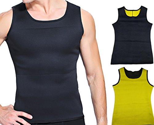 Herren Figurformendes Unterhemd Männer Body Shaper Taille Hemd Tank Top Sport Training Korsett Vest Sweat Shapewear für Gewichtsverlust