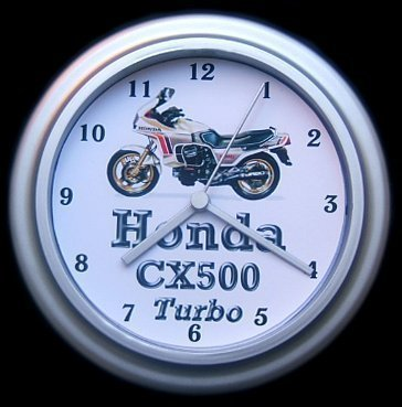 Honda CX500 Turbo tecleader reloj de pared