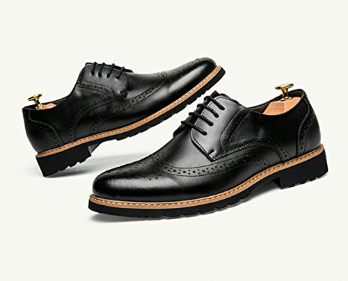 DHFUD Printemps Chaussures Hommes Casual Chaussures Mâle Pointu Britannique Black ic1wsvoD