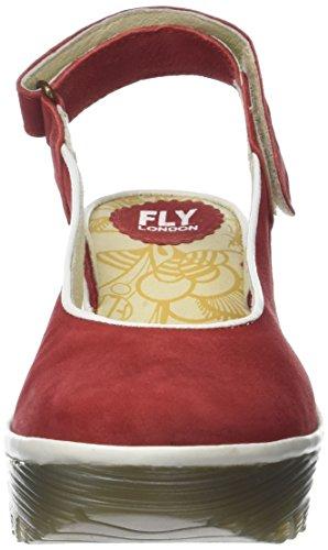London Sandalen Red FLY Slingback Yipi831fly Offwhite Lipstick Rot Damen v11qSxn4
