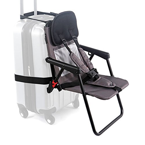 Think King SitAlong Toddler Luggage Seat, Gray
