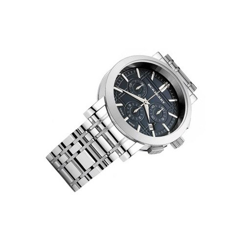 SALE! Authentic Burberry Heritage LUXURY Mens Unisex Stainless Steel Chronograph Watch Black Engraved Date Dial BU1366