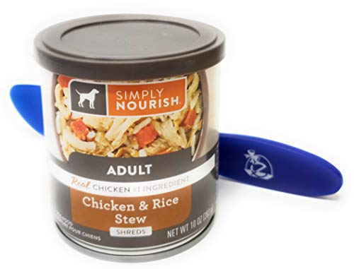 Simply Nourish Wet Canned Dog Food, 10oz (Pack of 12) and Especiales Cosas Spatula (Chicken and Rice Stew)