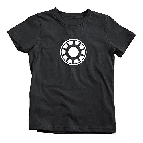Arc Reactor Kids Glow in the Dark T-Shirt Tee Iron Comic Man MCU Suit Black (Iron Arc Reactor compare prices)