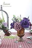 Floroom Artificial Flowers 25pcs Real Looking Dark