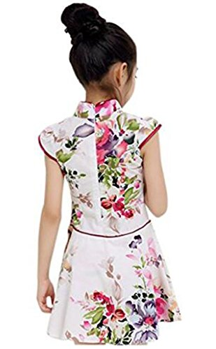 Suimiki Traditional Cheongsam Outfit Chinese Floral Qipao for Girls - http://coolthings.us