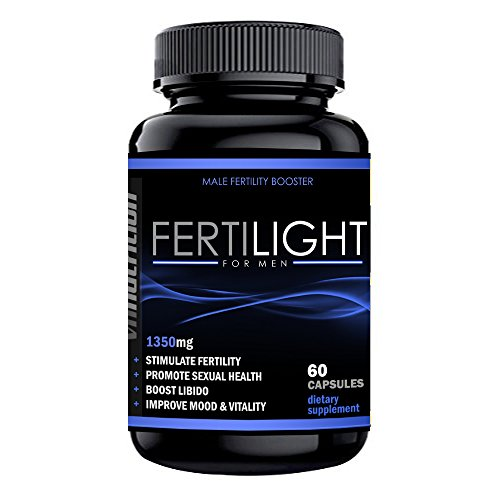 VH Nutrition FertiLight for Men | Male Fertility Supplement | Natural Blend of Vitamins and Supplements in Pills - 30 Day Supply - 60 Capsules