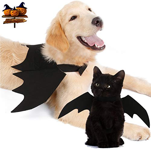 """Yu-Xiang Dog Halloween Bat Wings Pet Costume Cat Apparel for Dog, Black (L (Chest:30"""" -33.8""""))"""