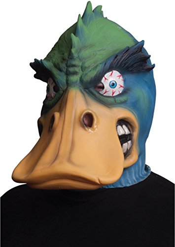 Morbid Enterprises Angry Duck Mask, Green/Yellow/Blue, One Size]()