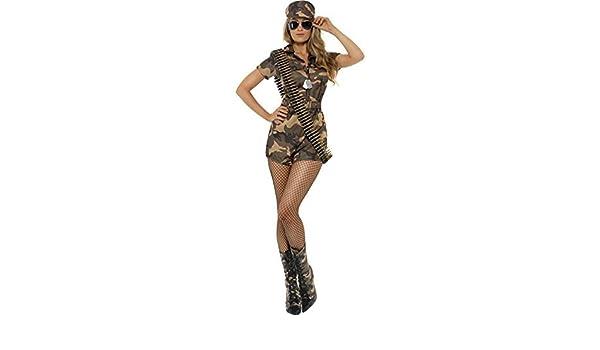 Mujer Chica Militar Disfraz Talla Pequeña Ajusta a 8 a 10 ...