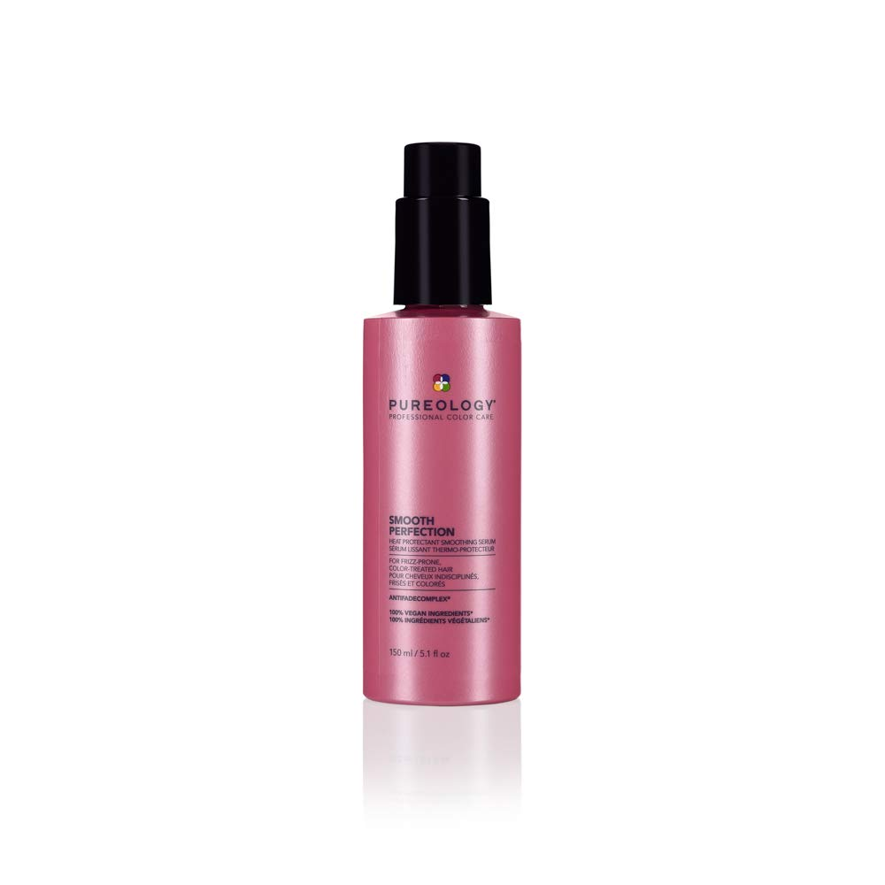 Pureology | Smooth Perfection Anti-Frizz Smoothing Serum | For Normal to Thick Hair | Vegan | 5 oz.