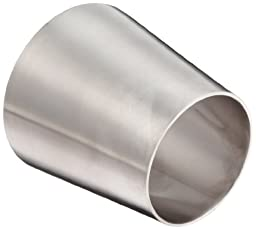 DixonB31W-R400300P Stainless Steel 316L Polished Fitting, Weld Concentric Reducer, 4\