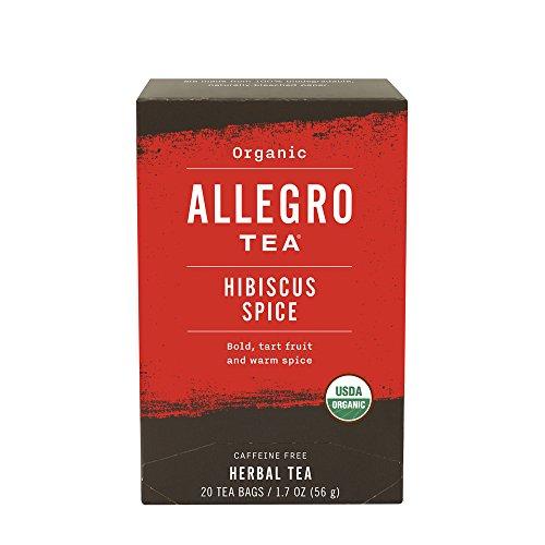Allegro Tea, Organic Hibiscus Spice Tea Bags, 20 (Hibiscus Spice Tea)
