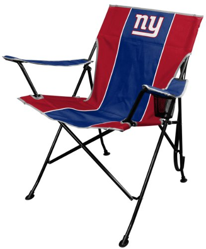Polyester Nfl Football (NFL Portable Folding Tailgate Chair with Cup Holder and Carrying Case)