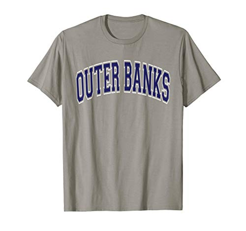 Outer Banks Varsity Style Navy Blue Text T-Shirt