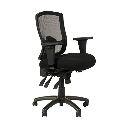 Alera ALEET4017 Etros Series Petite Mid-Back Multifunction Mesh Chair, ()