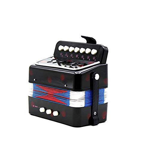 1PC Mini Kids Accordion 7-Key 3 Bass Educational Childrens Beginner Practice Music Instrument Band Toy