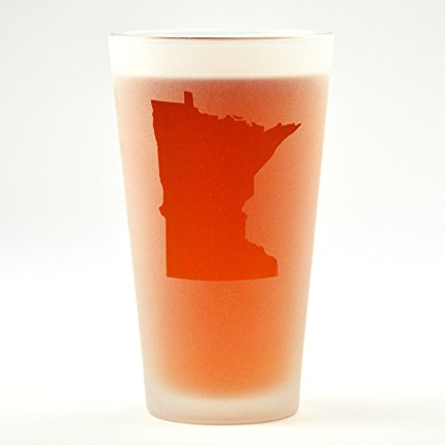 (Minnesota State Engraved Pint Glass)