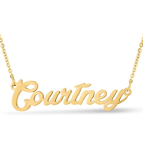 Beam Reach Courtney Nameplate Necklace in Gold Tone