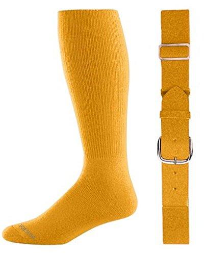 Joe's USA(tm) Baseball/Softball Belt & Sock Combo-Gold-Intermediate ()