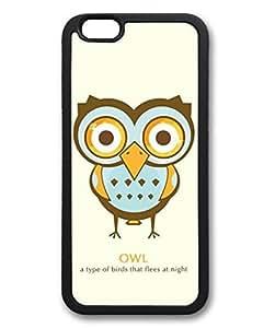 iCustomonline Cute Owl Case for iPhone 6 (4.7) TPU Material Black by ruishername