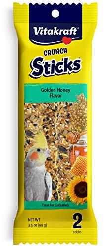 Vitakraft Cockatiel Treat Sticks - Golden Honey - 3.5oz