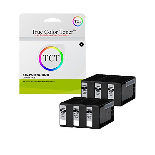 TCT Compatible Ink Cartridge Replacement for Canon PGI-1200 PGI1200 Black Works with Canon Maxify MB2320 MB2350 MB2020 MB2050 Printers (1200 Pages) - 6 - Black Tank Compatible 6bk Ink